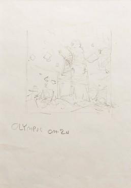 Bez tytułu/szkic ( w ramie 48 x 57cm)