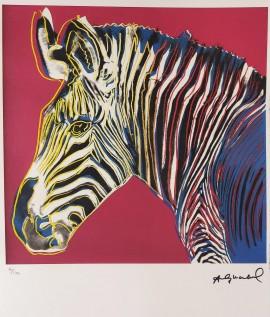 Zebra (edycja 60/100, pieczątka sygnatury p.d. ' Andy Warhol')