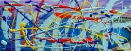 Abstrakcja Pollock XXV