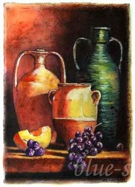 Butelki i owoce