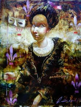 Kobieta z maską II