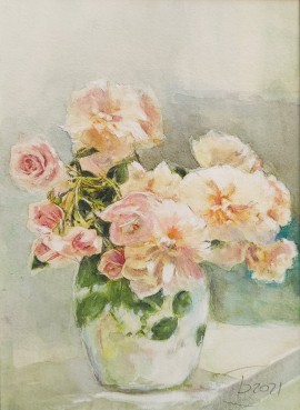 Pastelowy bukiet róż