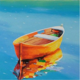 Kolorowa łódka