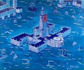 Pałac Kultury pod wodą