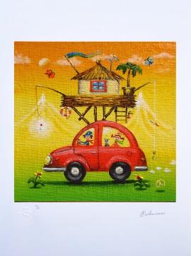 Czerwony samochodzik (ed.25/25/A3)