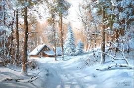 Zima-droga do leśniczówki