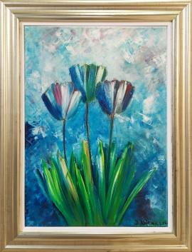 Tulipany niebieski