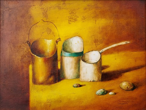 Still Life with a  white ladle