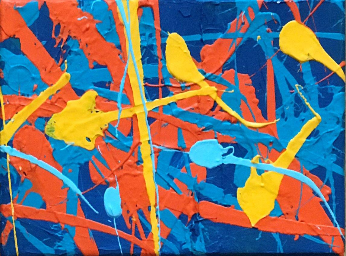 Obrazy Edwarda Dwurnika. Tulipany i Action painting